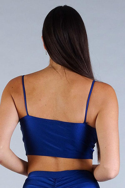 Sexy Spaghetti Strap Darted Under Bust Crop Top - Kendalls Deals