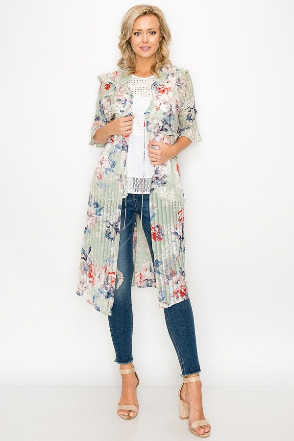 Ruffle Robe Cardigan - Kendalls Deals