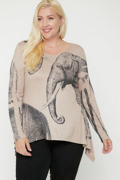 Elephant Sublimation Print Top - Kendalls Deals
