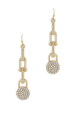 Chic Fashion Chain Drop And Rhistone Earring - Kendalls Deals