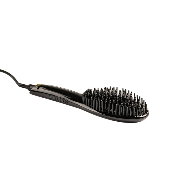 Portable Hair Straightener Brush with Anti-Scald Feature