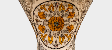 Middle Section of The Peach Meadow Artisan Sombaty Darbuka / Doumbek