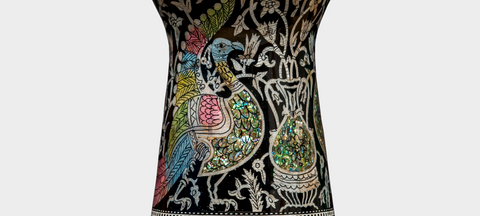 Middle Section of The Pearl Peacock Artisan Sombaty Darbuka / Doumbek