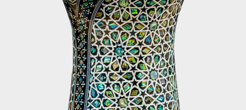 Middle Section of The Emerald Temple Darbuka / Doumbek