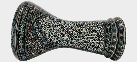 Malik Instruments The Emerald Temple Darbuka / Doumbek side view