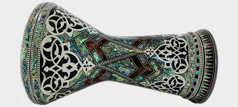 Malik Instruments The Royal Vines Sombaty Darbuka / Doumbek side view