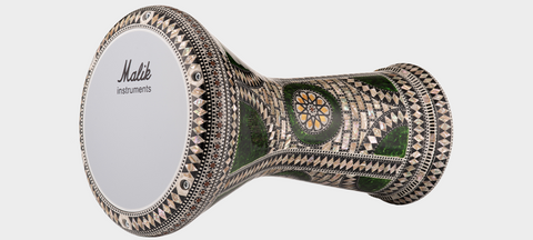 Malik Instruments The Emerald Orchid Darbuka / Doumbek side view