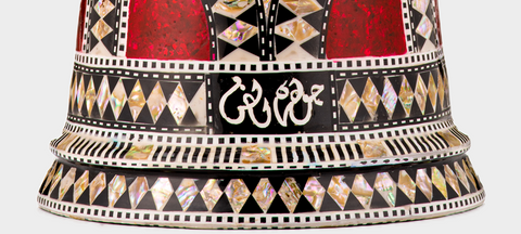 Bottom of The Ruby Orchid Darbuka / Doumbek