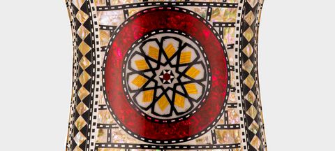 Middle Section of The Ruby Orchid Darbuka / Doumbek