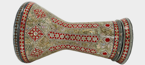 Malik Instruments The Pearl Columns Sombaty Darbuka / Doumbek side view