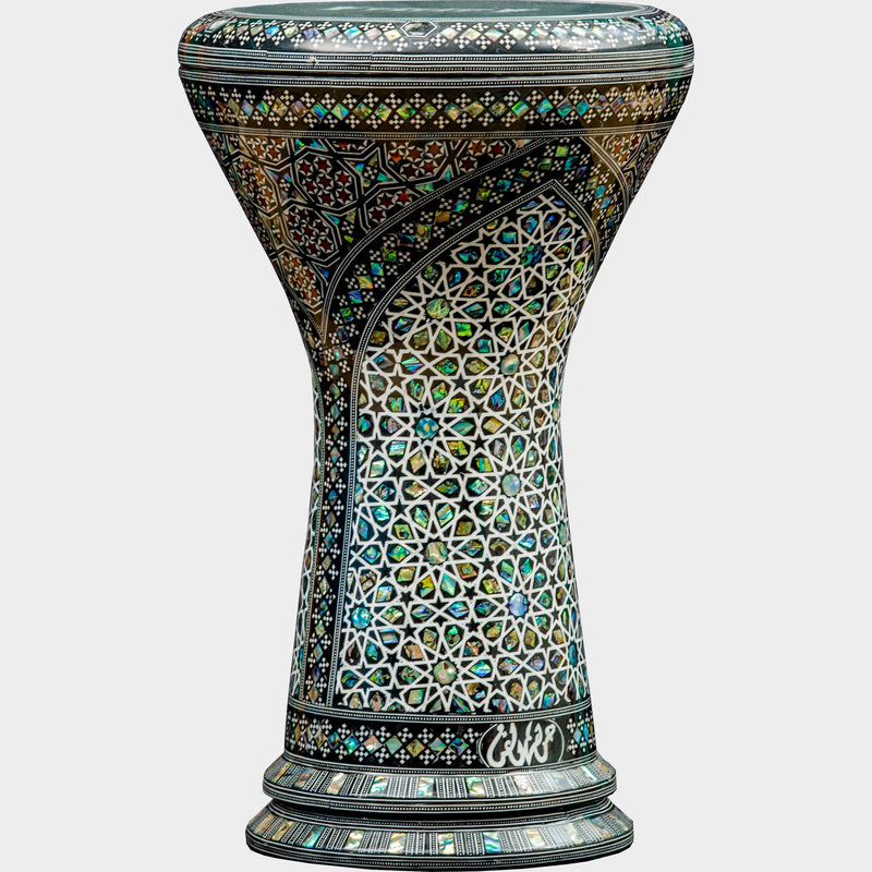 The Emerald Temple Darbuka | Malik Instruments | Darbuka / Doumbek / Goblet Drum
