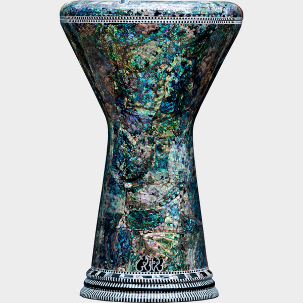 The Blue Pearl Jungle Sombaty Darbuka | Malik Instruments | Darbuka / Doumbek / Goblet Drum