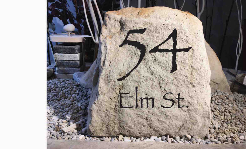 You Design LARGE CARVED Stone. #4 The Roosevelt - Free Design, Text, Graphics & Color - Free Shipping