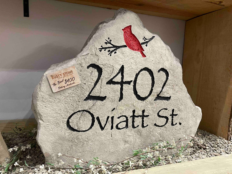 Extra LARGE CARVED Stone. Free Design, Text, & Graphic In Store pickup or local delivery