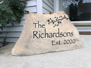 LARGE CARVED Address Marker - Free Design, Text, Graphics & Color - Free Shipping