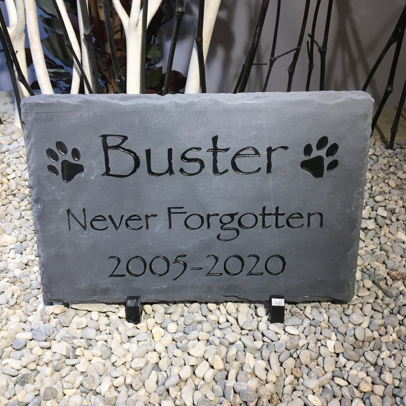 Carved Pet Memorial Slate - Unique gift