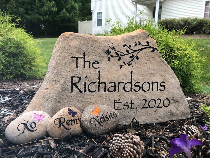 PersonalizeD LARGE carved Address Marker. Free Design, Text, Graphics & Color - Free Shipping