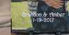 Vertical Personalized Photo Slate For Couples