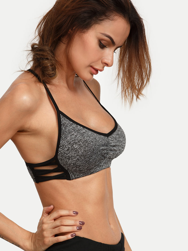 Crisscross Side Sport Bra