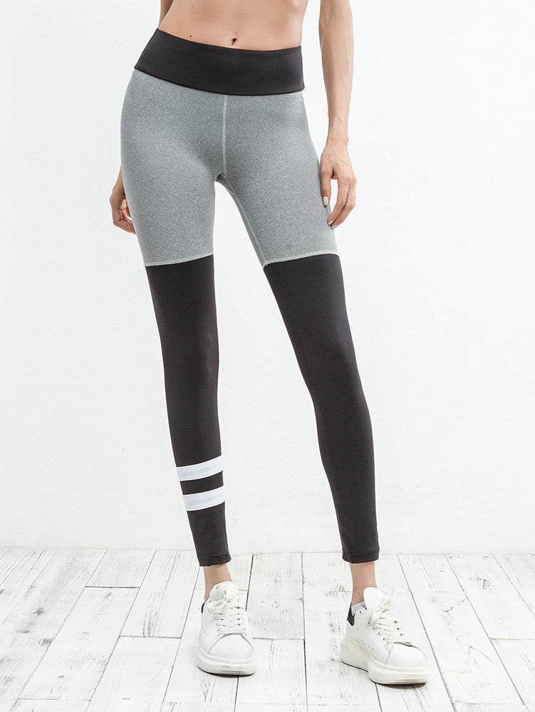 Color Block Varsity Striped Leggings