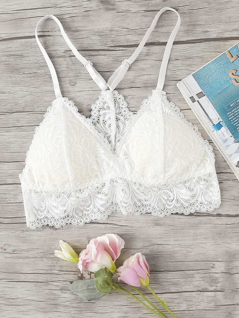 Adjustable Straps Lace Bralette
