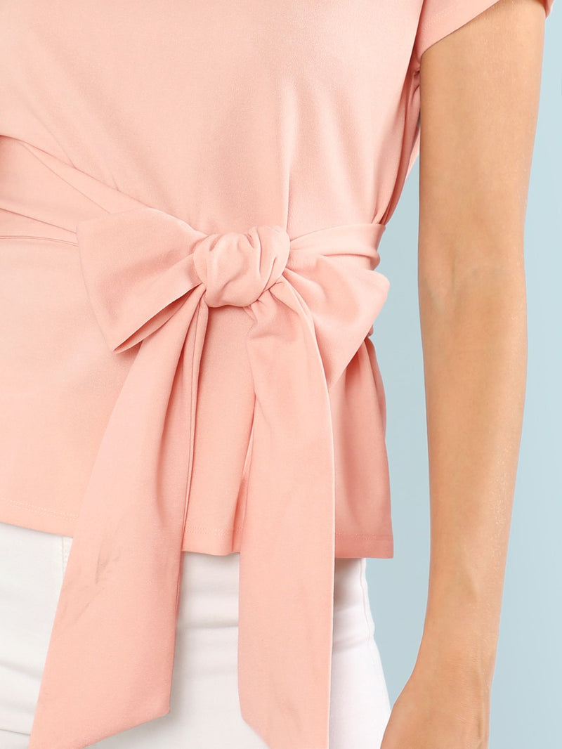 Belted Solid Top