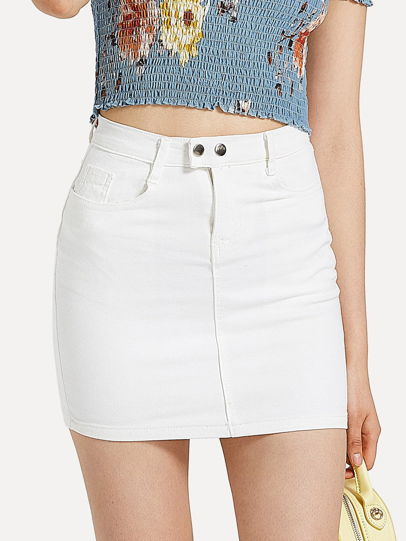Basic Skinny Denim Skirt