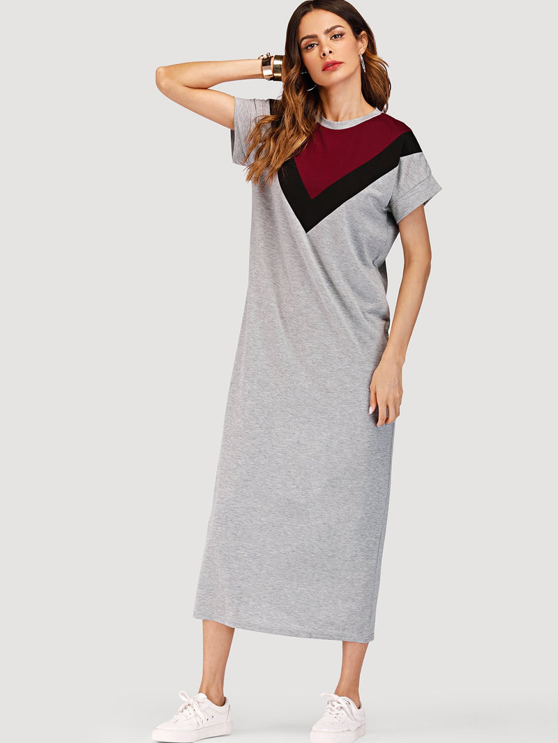 Chevron Color Block Dress