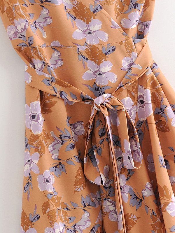 All Over Florals Wrap Dress