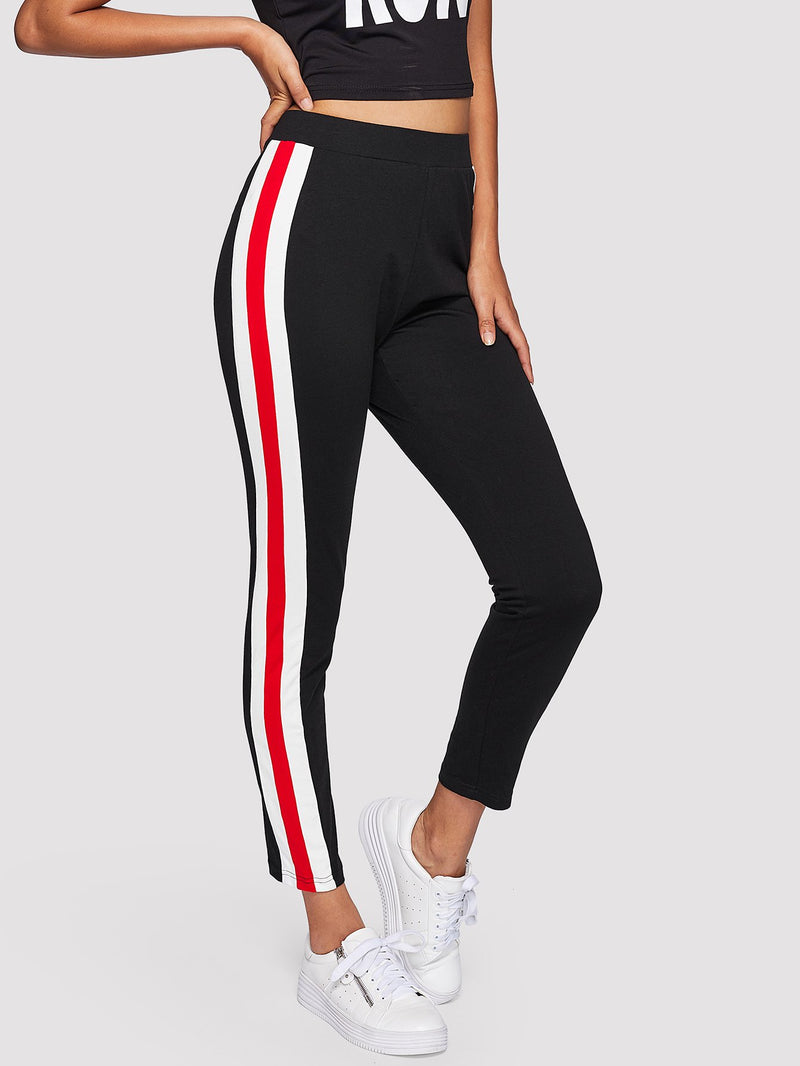 Color Block Side Skinny Leggings