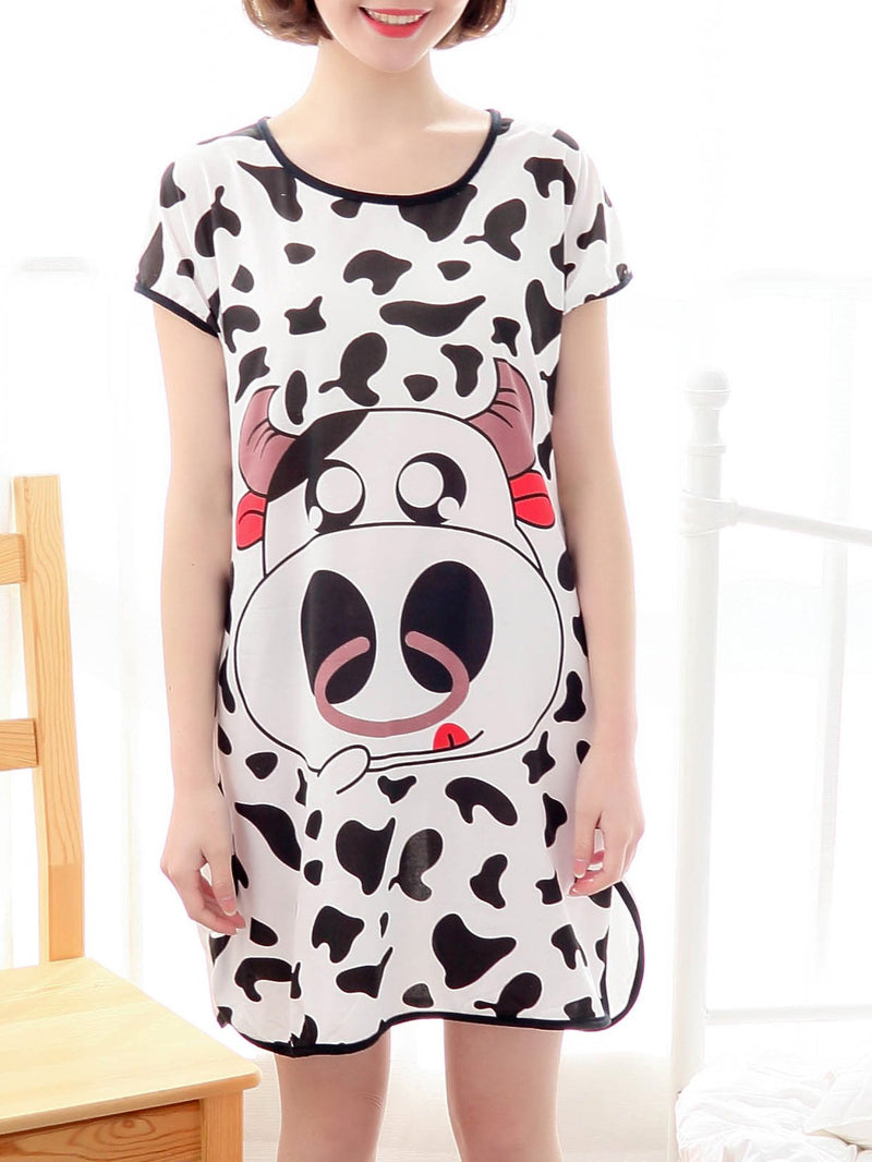 Cow Print Night Dress