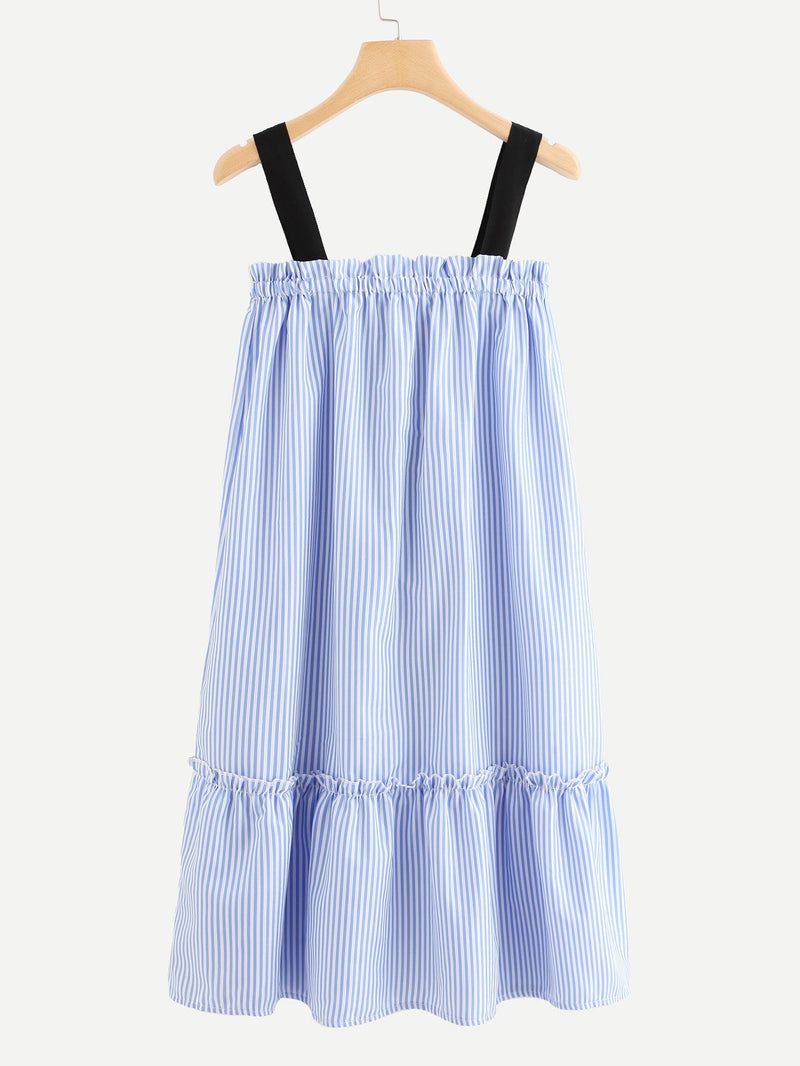 Bow Detail Striped Cami Dress