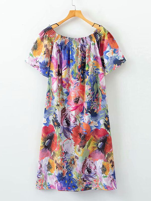All Over Florals Bardot Dress