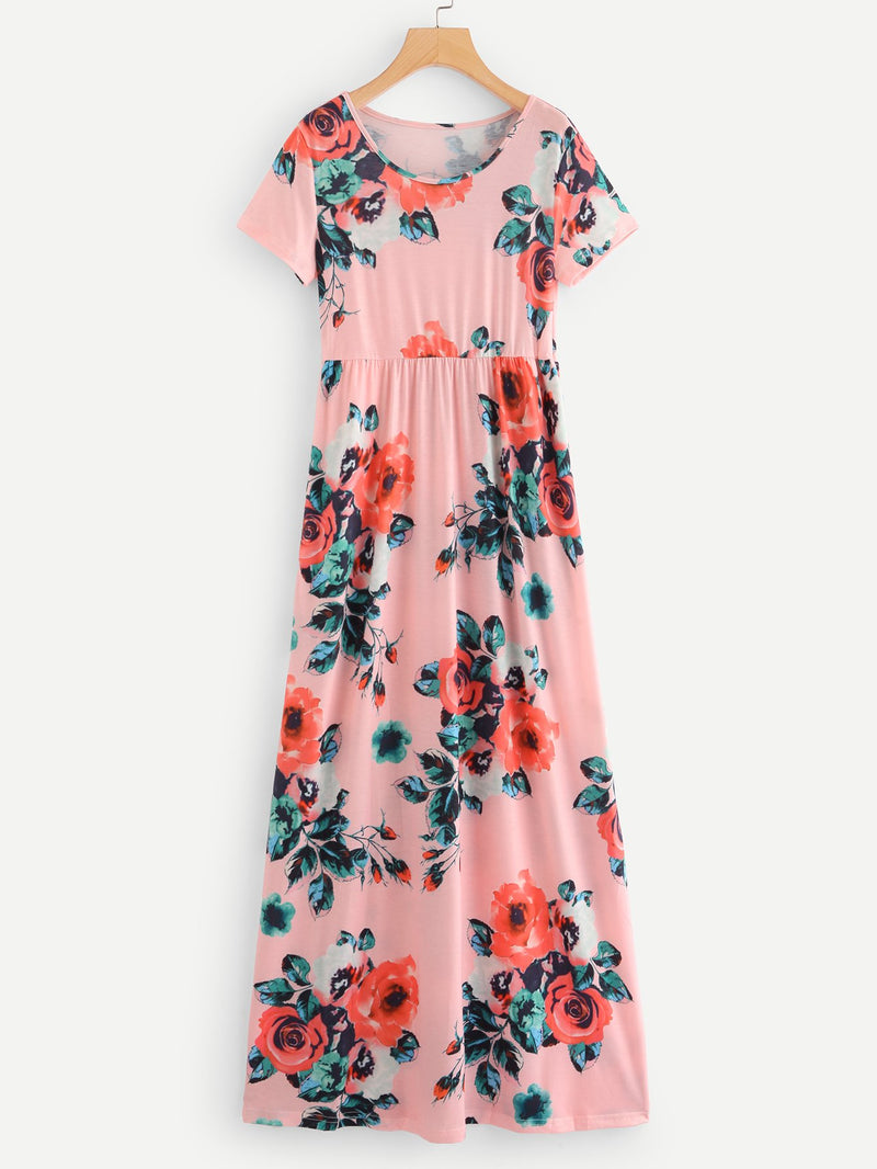 Allover Floral Print Dress
