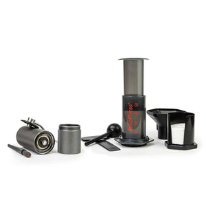 AEROPRESS Original or AEROPRESS GO + Timemore C2 Chestnut Grinder + FREE 250g coffee