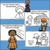 Harriet Tubman Mini Book for Early Readers: Black History Month