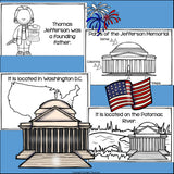 Jefferson Memorial Mini Book for Early Readers: American Symbols