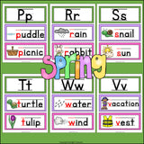 Alphabet Word Wall - Spring Theme