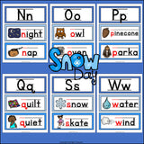 Alphabet Word Wall - Winter Theme