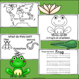 Frogs Mini Book for Early Readers