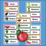 Healthy Foods Name Tags - Editable