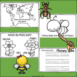 Honey Bees Mini Book for Early Readers