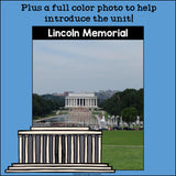 Lincoln Memorial Mini Book for Early Readers: American Symbols
