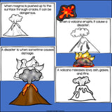 Volcanoes Mini Book for Early Readers