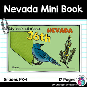 Nevada Mini Book for Early Readers - A State Study