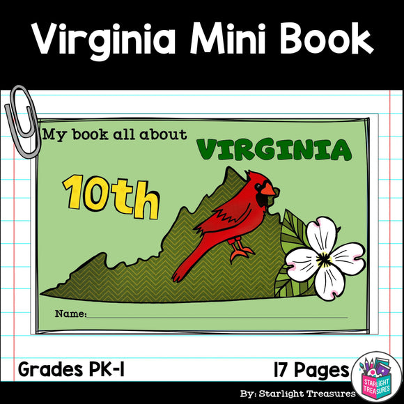 Virginia Mini Book for Early Readers - A State Study