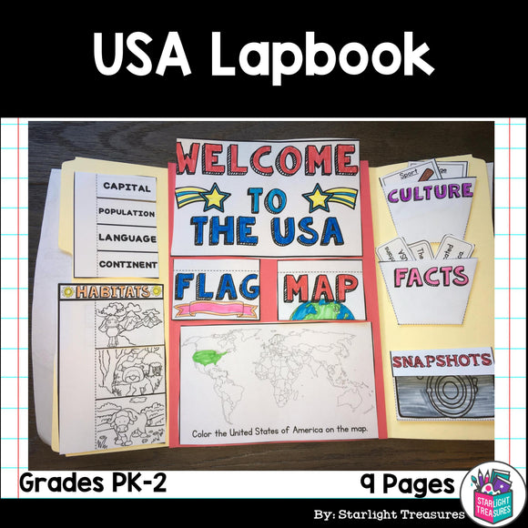 USA Lapbook for Early Readers
