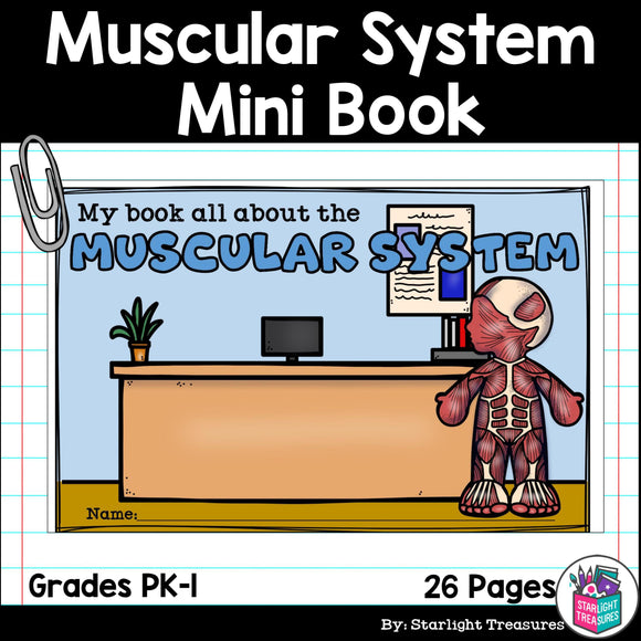 Human Body Systems: Muscular System Mini Book for Early Readers