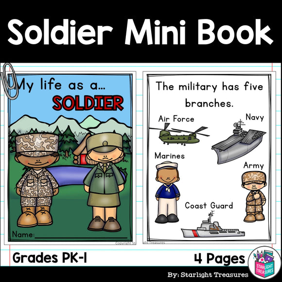 Soldier Mini Book for Early Readers
