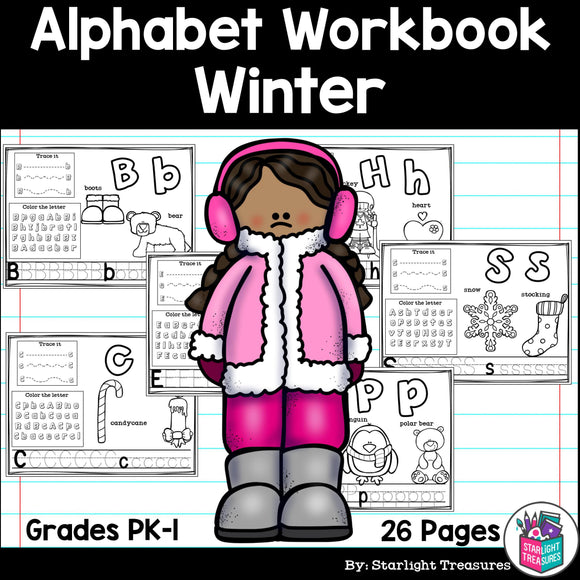 Worksheets A-Z Winter Theme